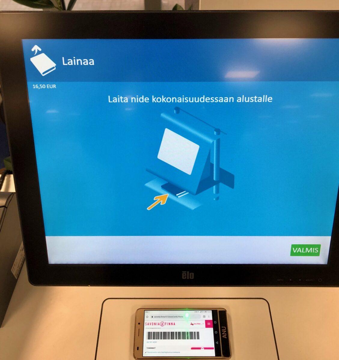 Mobiilikirjastokortti Savonia-Finnassa