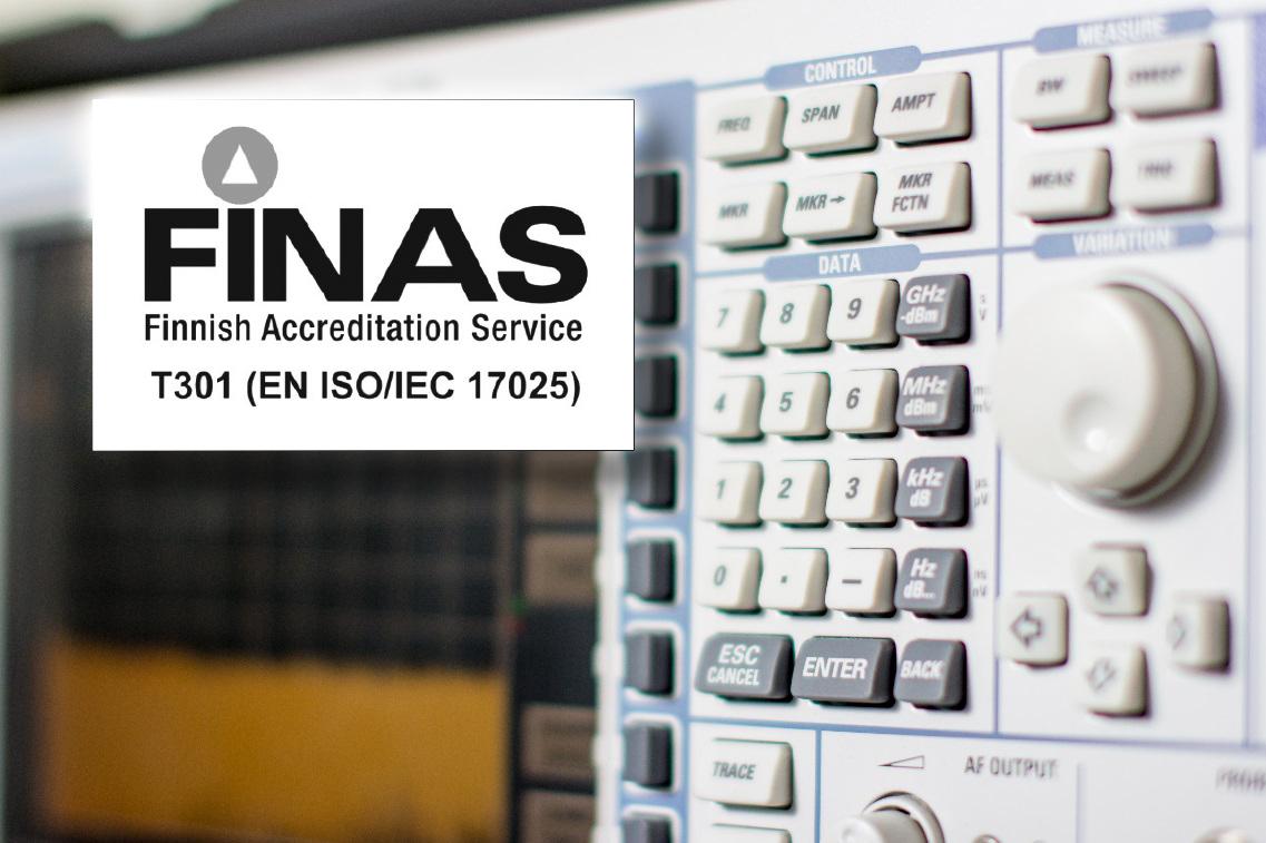 EMC FINAS T301 (EN ISO/IEC 17025)