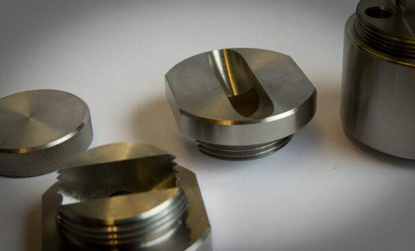 Koneistuslaboratoriossa valmistettu tuote.
