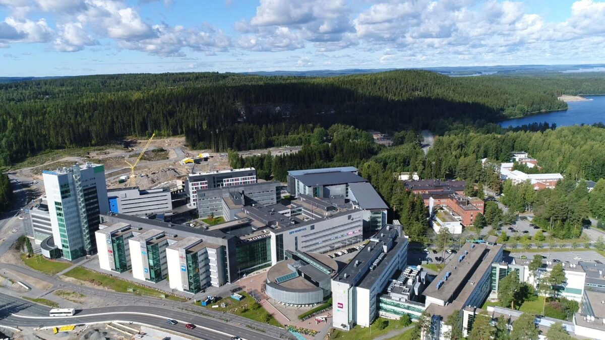 Microkatu campus, ilmakuva, aerial view