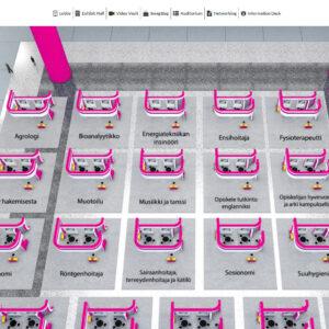 Kuva virtuaalisesta messuhallista.