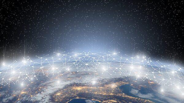 Maapallo ja tietoverkko.