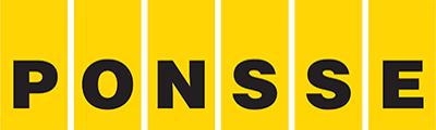 Ponssen logo, jossa lukee PONSSE