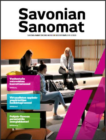 Savonian Sanomien kansi.