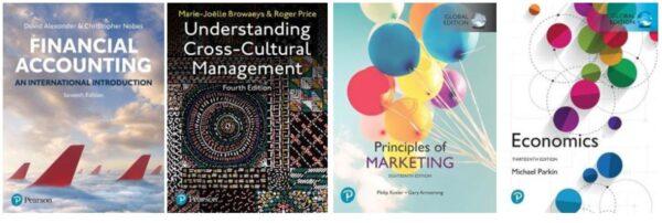The covers of Pearson e-books