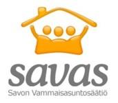 Savaksen logo, jossa lukee: Savas Savon vammaisasuntosäätiö