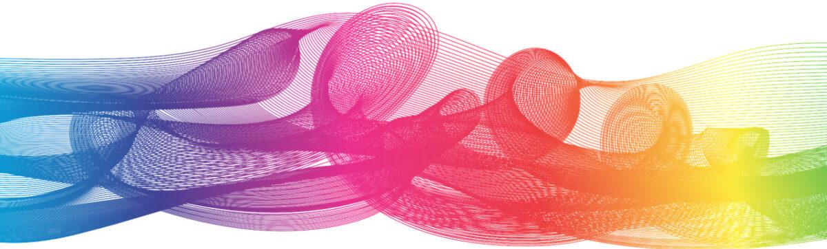 abstrakti monivärinen viivakuvio